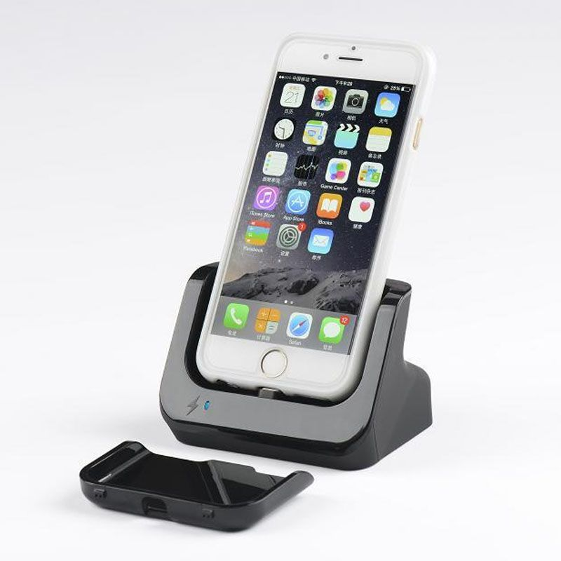 Hot sell For apple iPhone 6 iPhone 6s 4.7 charging dock charger with Data Sync cradle stand Docking Station