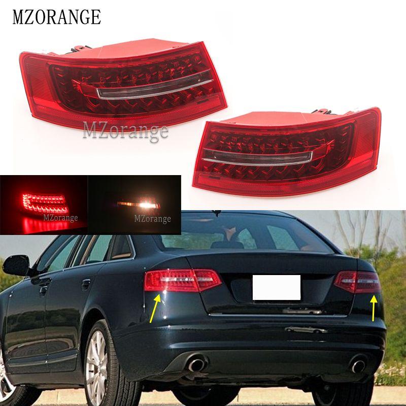 MZORANGE Außerhalb Licht LED Rücklicht Montage Für Audi A6 C6 S6 Quattro RS6 Saloon Limousine 2009-2011 4F5945095J 4F5945096J