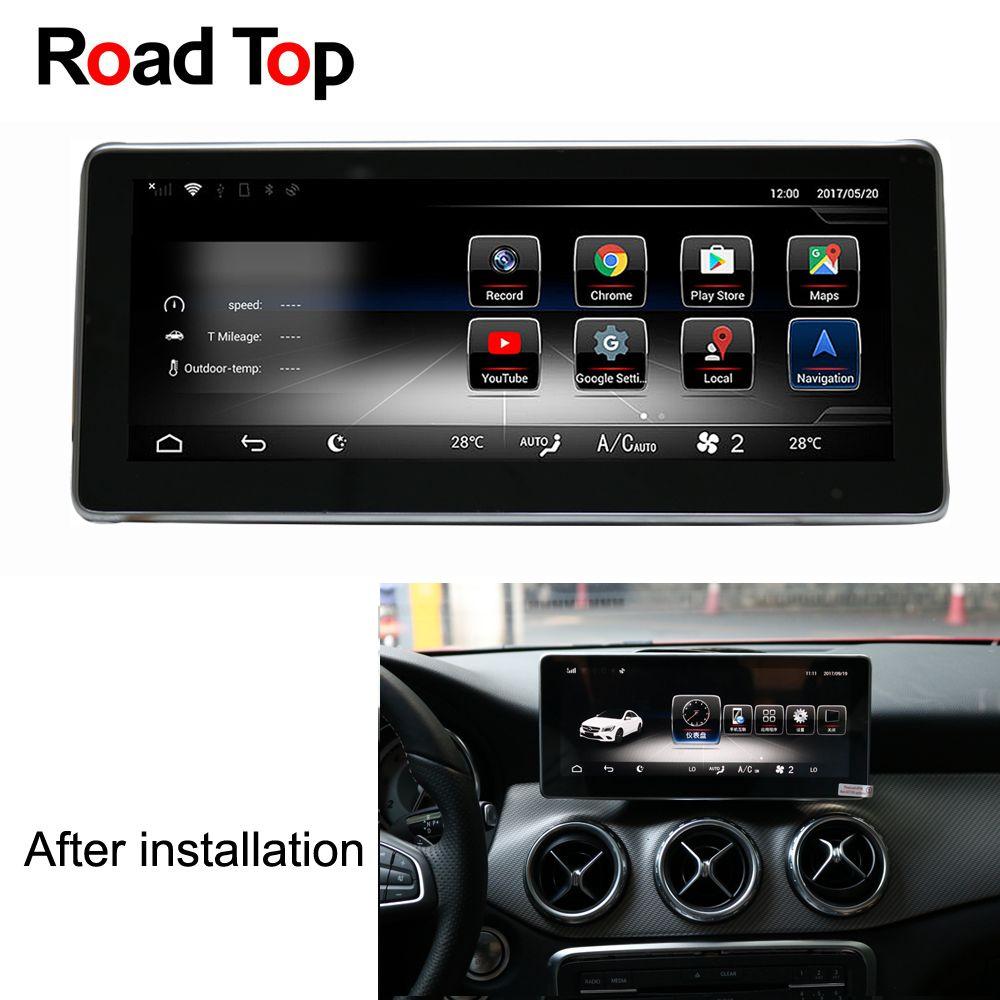 10,25 Android 7.1 Auto Radio GPS Navigation Bluetooth WiFi Kopf Einheit Bildschirm für Mercedes Benz CLA180 CLA200 CLA220 CLA250 CLA45