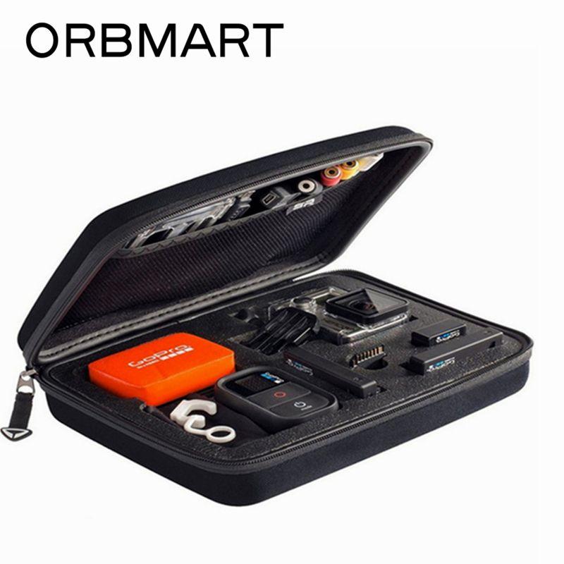 ORBMART Sport Caméra Cas De Stockage Collection Sacs Portable De Protection Antichoc Pour Gopro Hero 7 6 5 4 SJCAM SJ6000 Xiaomi yi 2