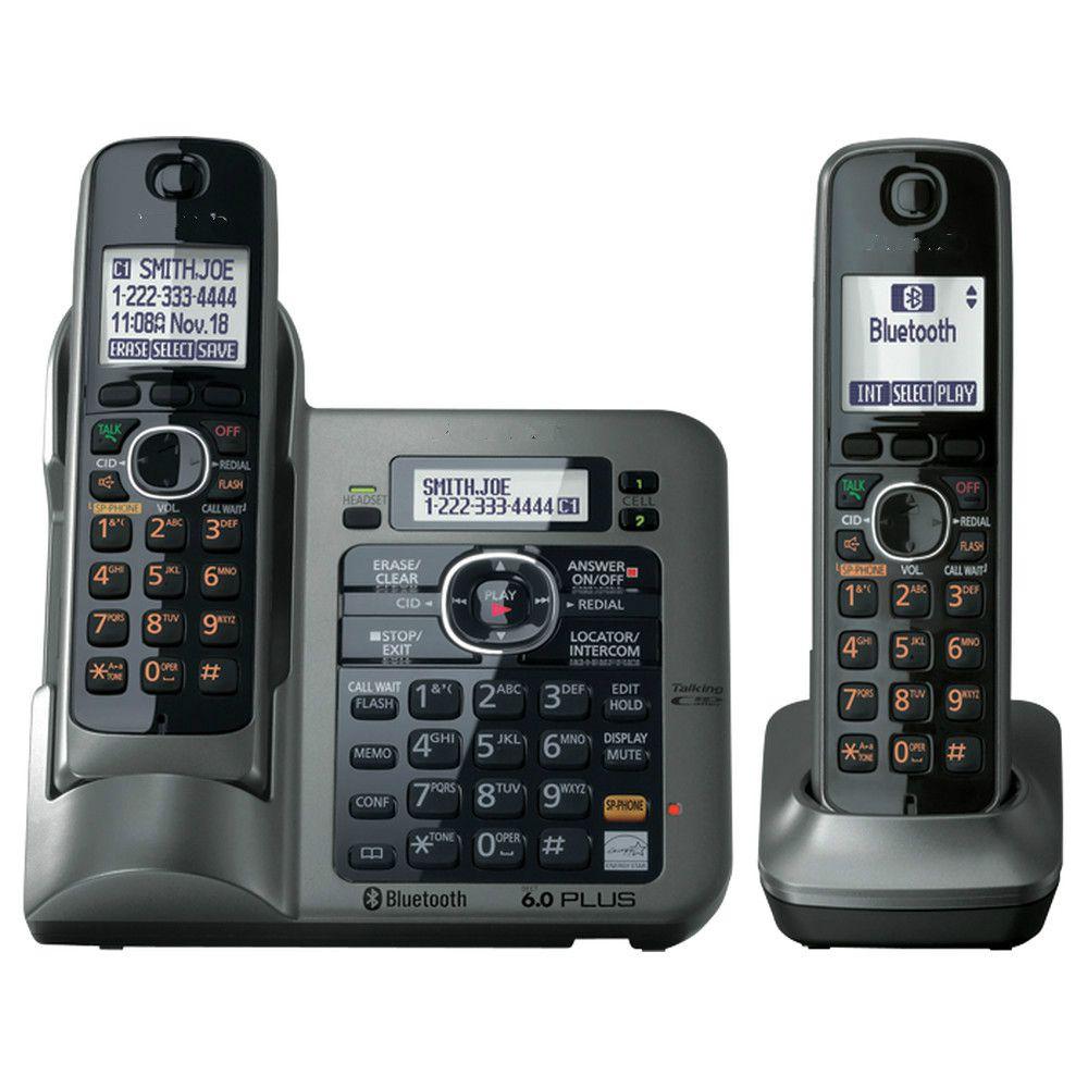 2 Combinés KX-TG7641 série DECT 6.0 lien-à-cellulaire Numérique sans fil téléphone Sans Fil Téléphone