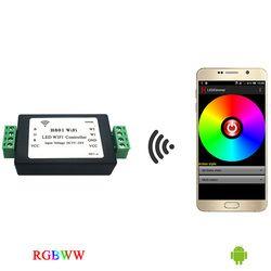 Rgbww strip WiFi controller, rgb controller, berkomunikasi dengan ponsel Android melalui WLAN untuk dim, output 5 rute RGBWW data.