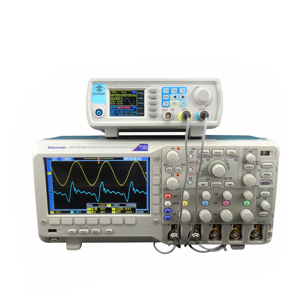 JDS6600 Series Digital Control Signal Generator Dual-channel DDS Function Arbitrary sine Waveform frequency meter 15MHZ 46%off