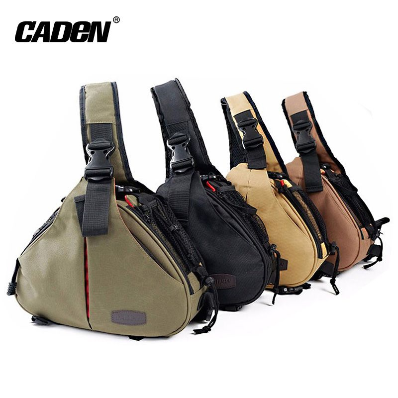 Caden DSLR Camera Bag Sling shoulder Bags Case Waterproof with Rain Cover for Canon Sony Nikon Digital Photo bag