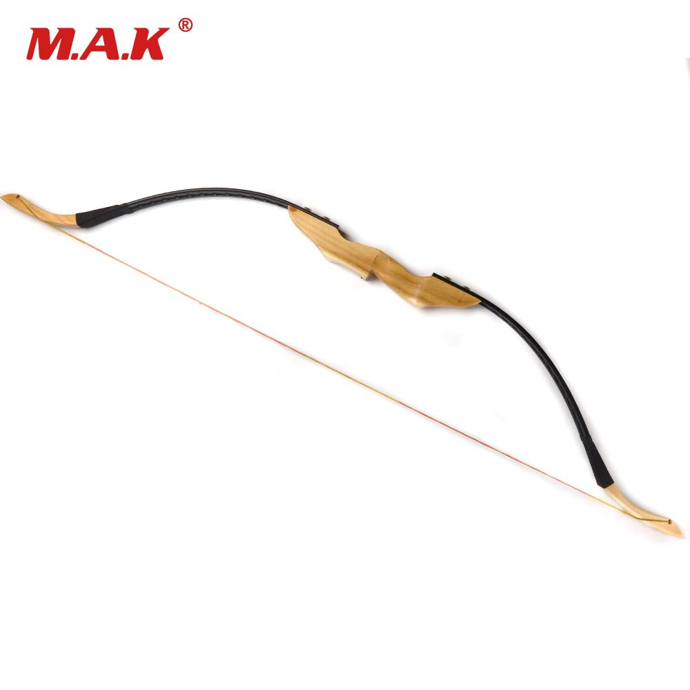 Mongolian Recurve Bow 30/40 Lbs with Wooden Handle and Rest for Right/Left Hand User Archery Hunting/Shooting