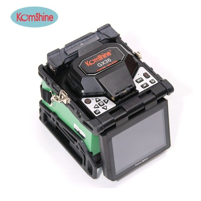 9 Seconds Splicing time Fusion Splicer Single Optical Fiber Fusion Splicer KOMSHINE GX36 Fiber Machine Kit with Cleaver