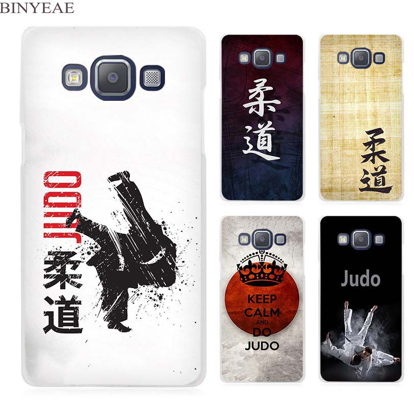 BINYEAE Judo Clear Transparent Cell Phone Case Cover for Samsung Galaxy A3 A5 A7 A8 A9 2016 2017