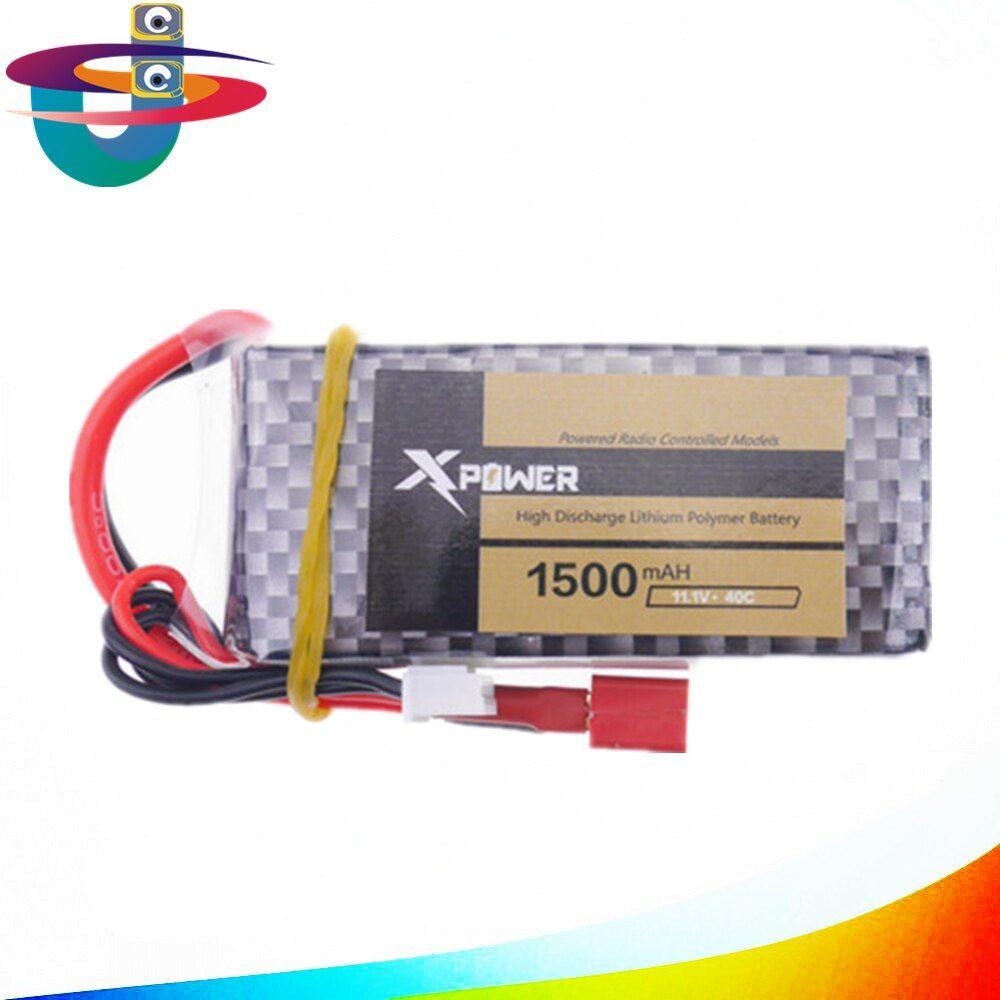Lipo Battery 11.1V 1500Mah 3S 40C MAX 60C T Plug For RC Car Airplane Helicopter Drone Bateria Parts Wizard X220 v950