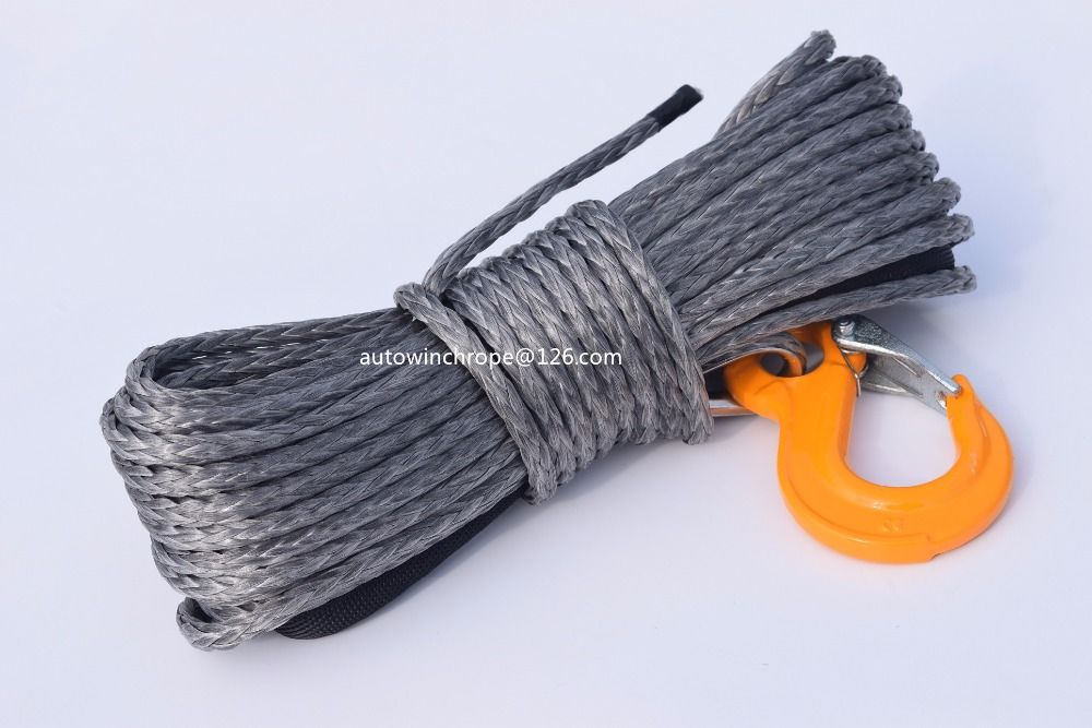 6mm*15m Grey Synthetic Winch Rope,1/4