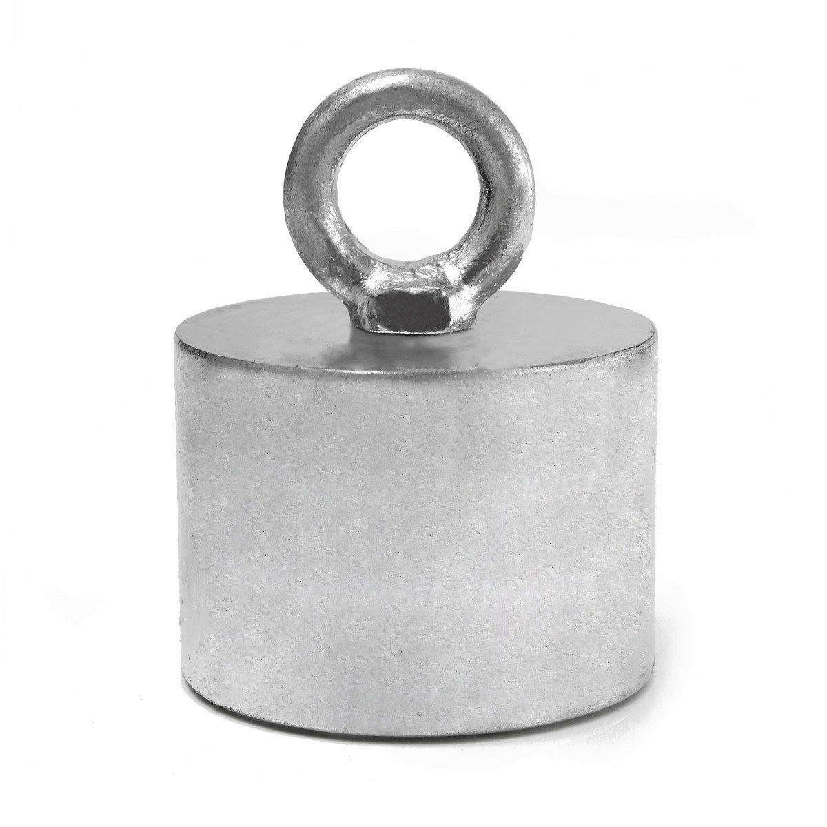 1 Stück 55x40mm 30 kg Neodym Recovery Magnet Metalldetektor mit Griff Ringscrew Hohe Qualität Leistungsstarke