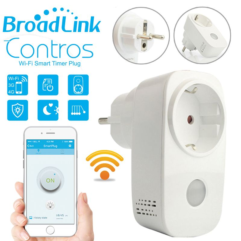 Broadlink SP3 L'UE SP Mini/Contros Intelligente Sans Fil WiFi Prise 16A 2200 w Alimentation Plug IOS Android À Distance contrôle