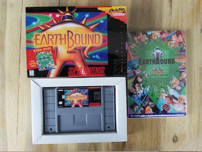 16Bit Games ** Earthbound ( USA Version!! Box+Manual+Cartridge!! )