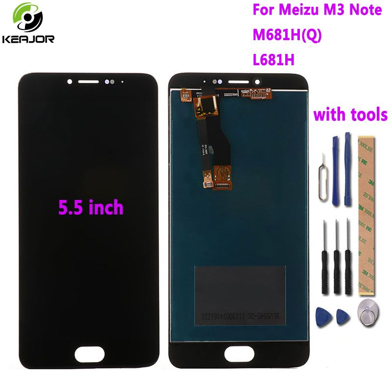 for Meizu M3 Note LCD Display+Touch Screen with Tools Glass Panel Digitizer Accessories For Meizu M3 Note M681H L681H