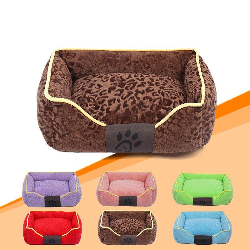 Imprimé Chien Amovible Lit Réchauffement Pet Maison Doux PP Coton animaux Nid Automne et D'hiver Chiot Chat Chenil Pour Petit chiens
