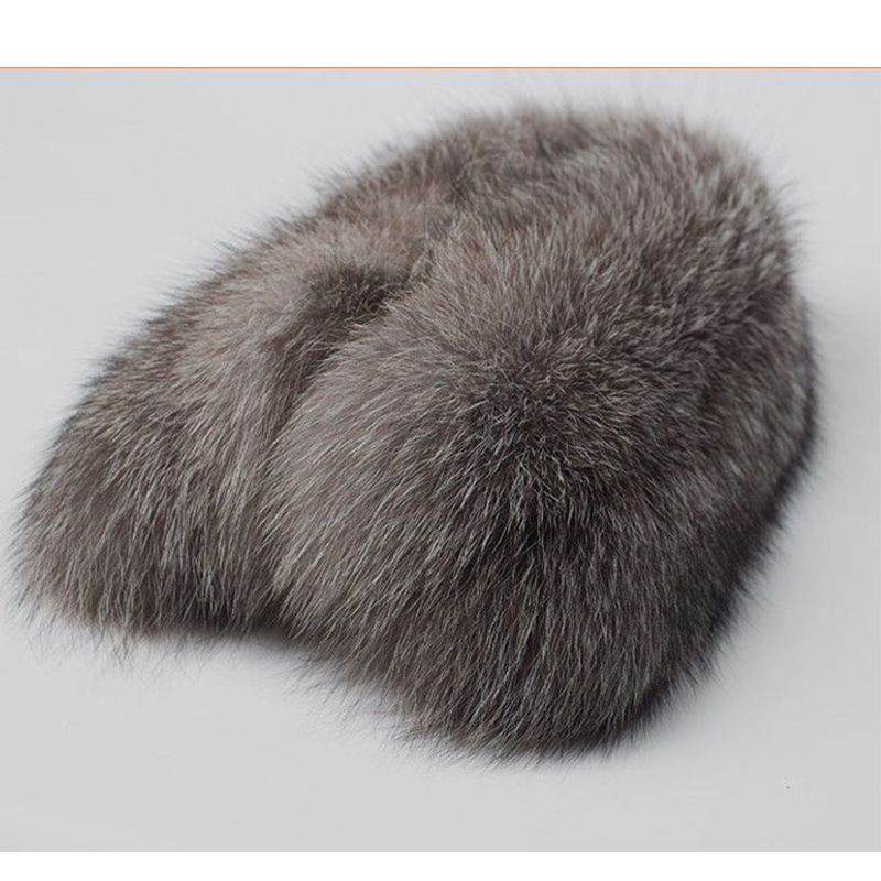 Silver fox, fox fur collar and generous Ms winter fur scarf real fur collars in the fall and winter of men L#33