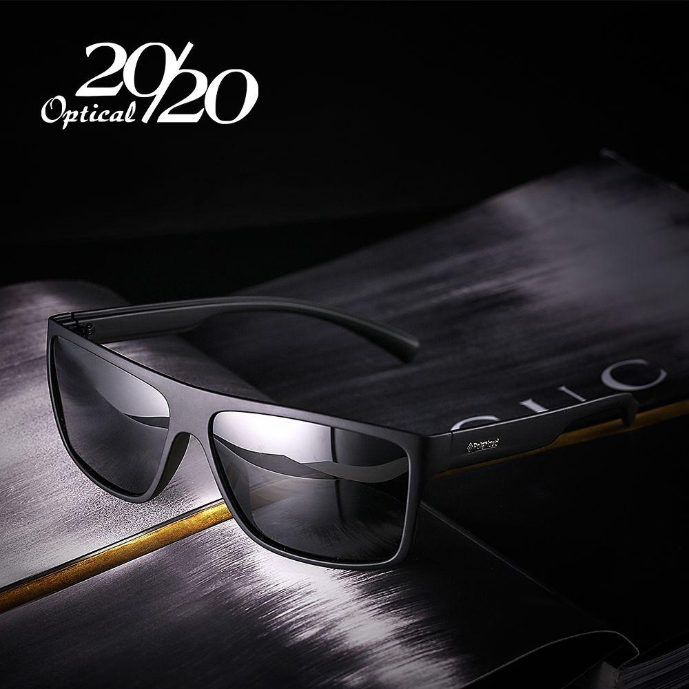 20/20 New Night Vision Polarized Sunglasses Men Fashion Night Driving Enhanced Light anti-glare Male Square Glasses PL318