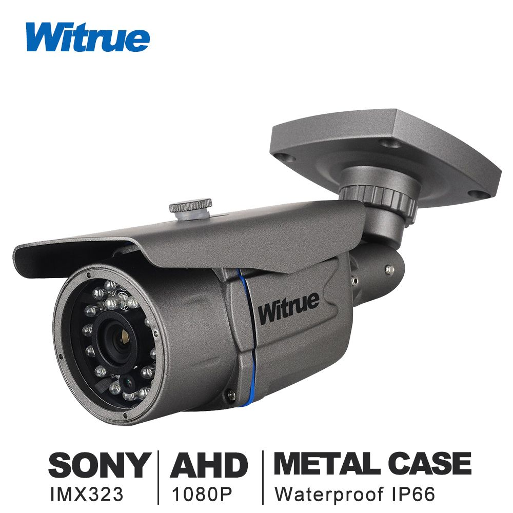 Witrue Mini Surveillance Camera Sony IMX323 AHD Camera1080P 20M Night <font><b>Vision</b></font> CCTV Camera IR Outdoor Waterproof Security Camera