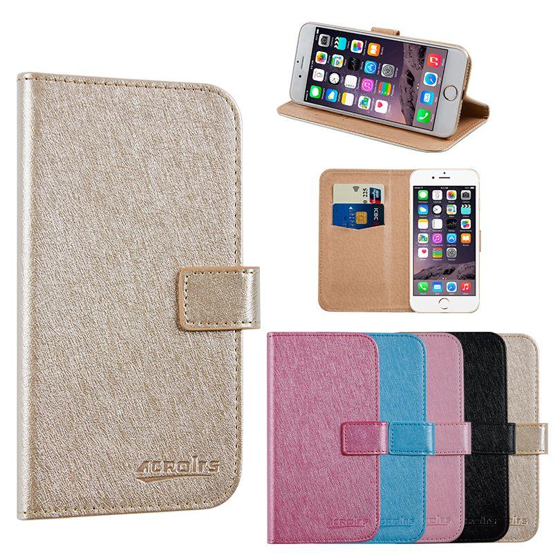 Pour FLY FS507 Cirrus 4 étui pour téléphone d'affaires portefeuille en cuir Stand housse de protection avec fente pour carte