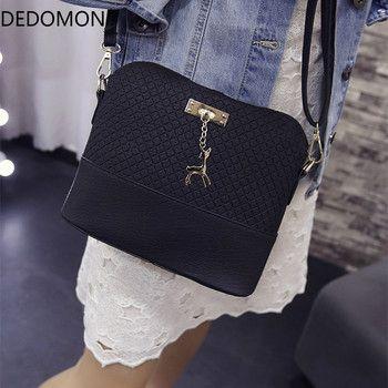 2017 mujeres bolsas de hombro moda Mini bolsa con Deer Toy Shell forma mujeres pequeño Messenger Crossbody bolsos de la cremallera