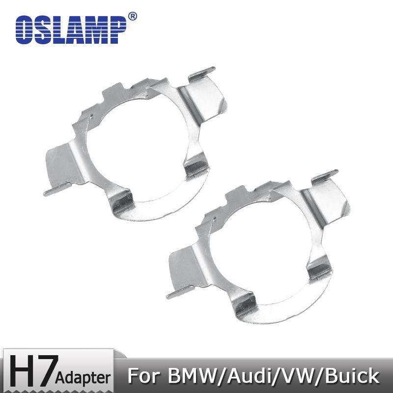 Oslamp For BMW/Audi/Bens/VW/Buick/Nissan H7 Headlight Bulbs Metal Clip Mounting Adapter Holders 1 Pair H7 Lamp Adapter Base