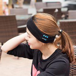 Vapeonly Merajut Musik Ikat Kepala Headset dengan Mikrofon Nirkabel Bluetooth Earphone Headphone untuk Menjalankan Yoga Gimnasium Tidur Olahraga Lubang Suara