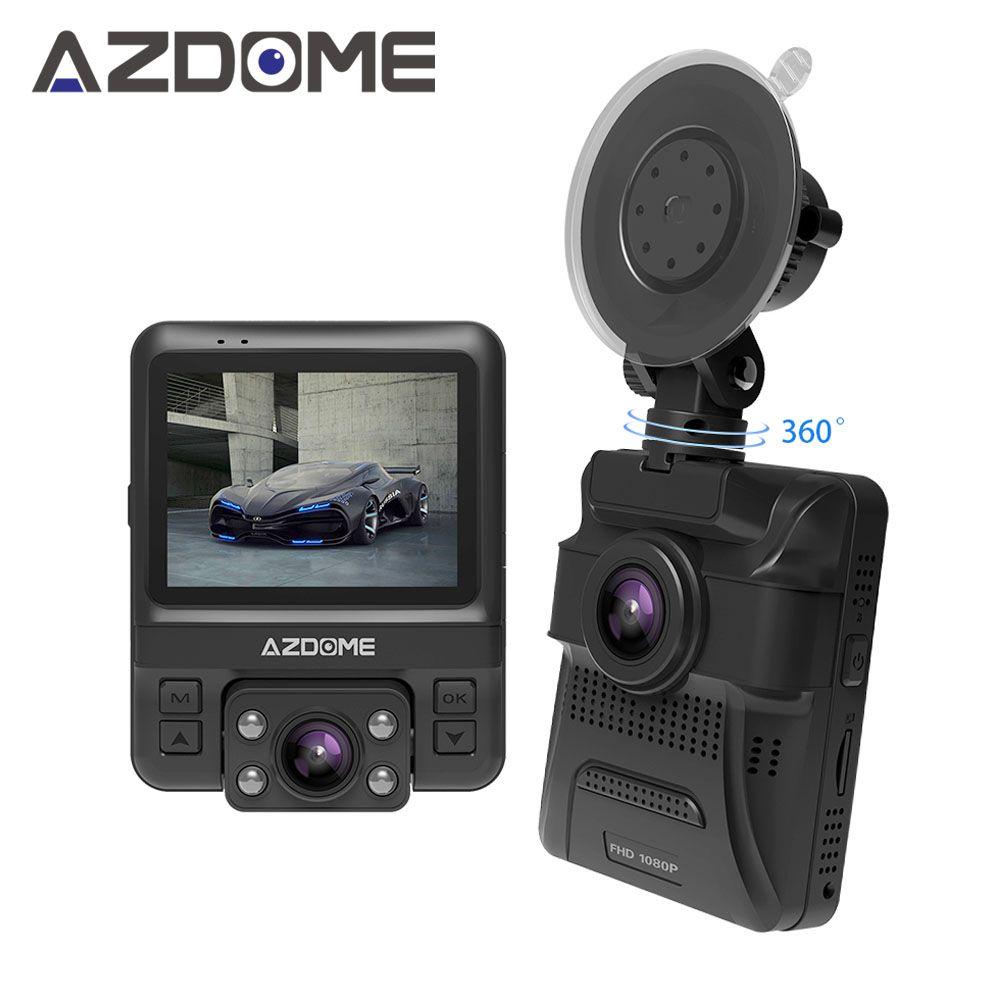 Azdome gs65h оригинальные мини Двойной объектив Видеорегистраторы для автомобилей 2.4
