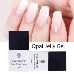 BORN PRETTY Opal Jelly Gel Polish 10ml 5ml White Soak Off UV Gel Nail Polish Varnish Manicure Nail Art Decoration UV LED