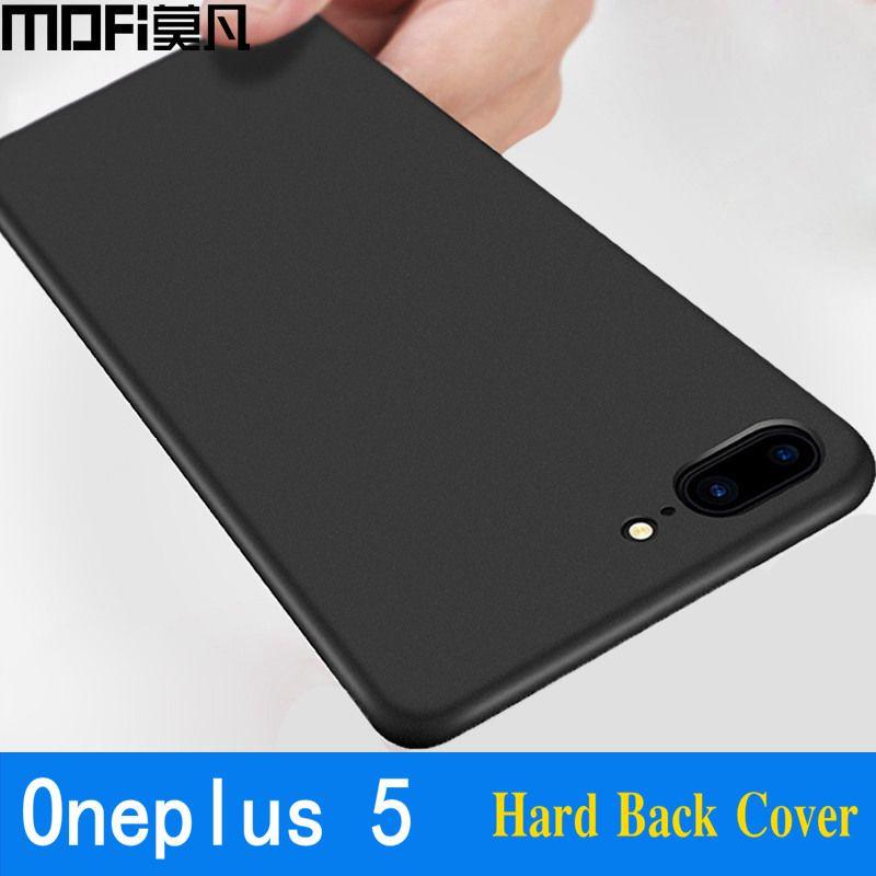 Oneplus 5 cas dur de couverture PC complet protéger un plus 5 cas couverture arrière noir capas mince coque MOFi d'origine 1 plus 5 cas 5.5