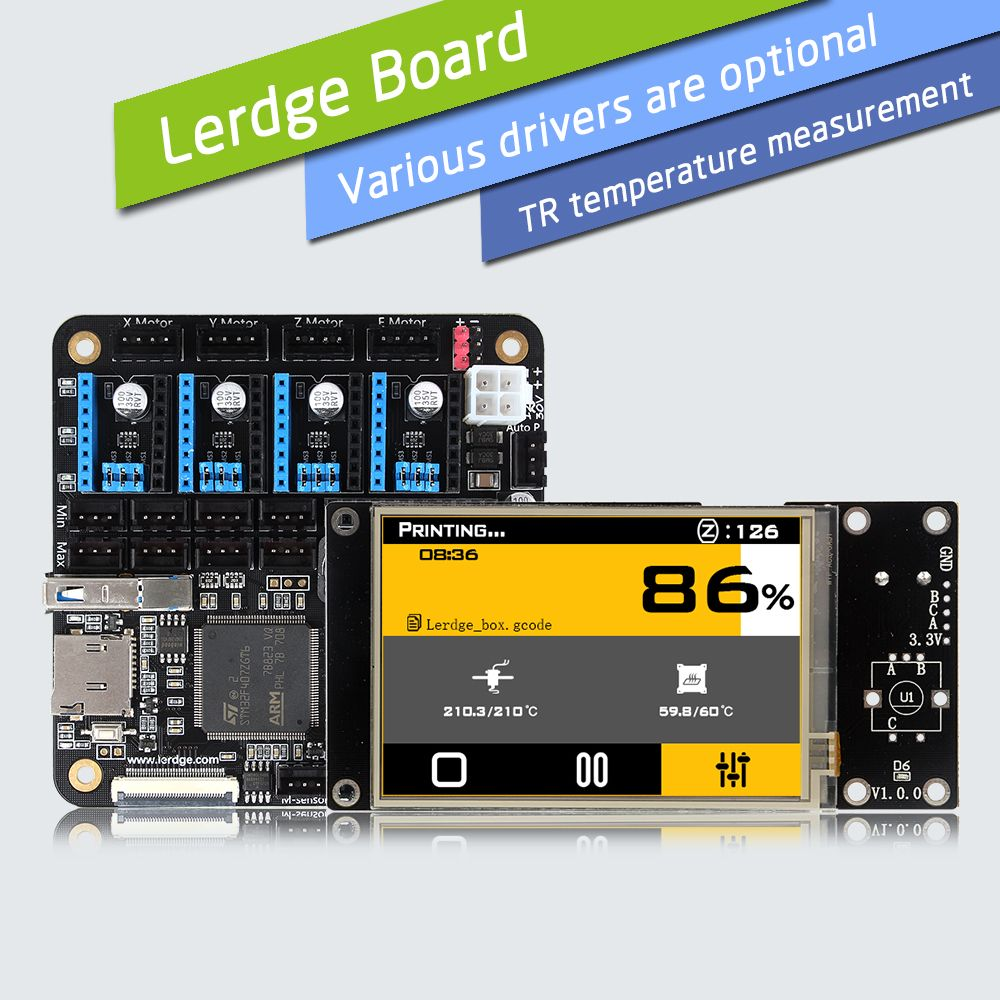 LERDGE 3D Printer Board ARM 32Bit Controller Motherboard for 3D Printer Control Mainboard with 3.5
