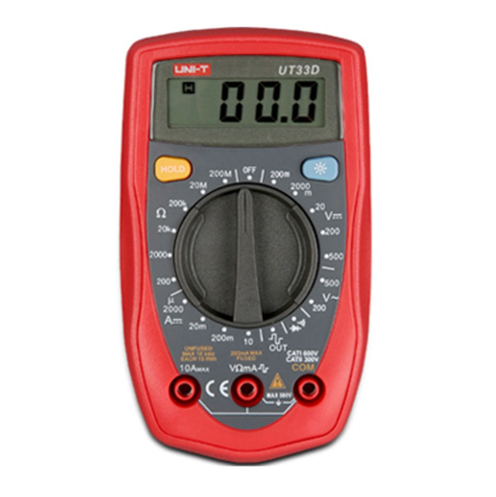 UNI-T UT33D Digital Multimeters Palm Size DC AC Voltage Current Ampere Resistance Meter Testers Ammeter Voltmeter Multimeter
