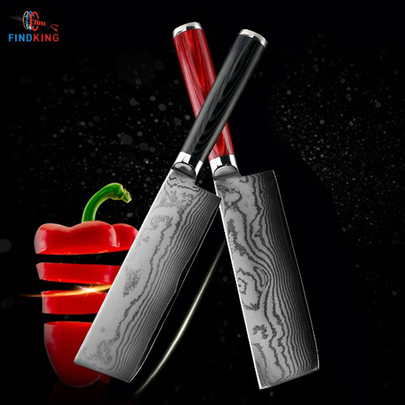 FINDKING new damascus steel blade damascus knife 6.5 inch chef knife 67 layers damascus kitchen knife
