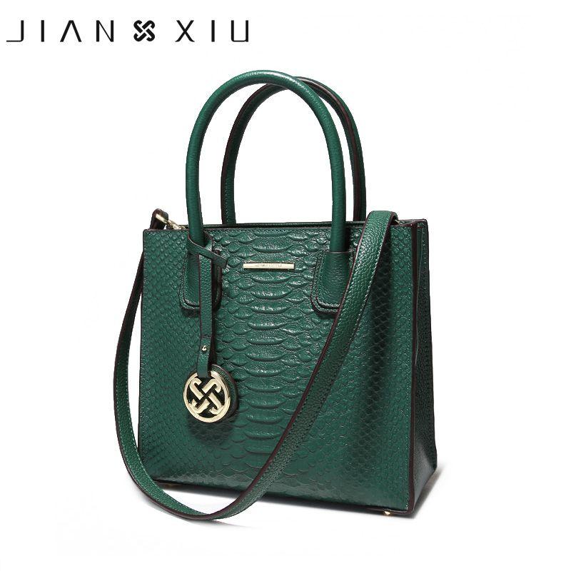 JIANXIU Fashion Genuine Leather Handbag Luxury Handbags Women Bags Designer Female Shoulder Messenger Bag New Small Tote 3 Color