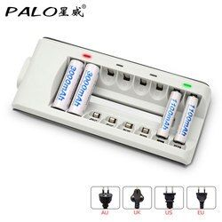 PALO Brand 8 Slots LED Light Smart Battery Charger For NI-MH NI-CD AA AAA Rechargeable Batteries P10 Quick Charger Free Shipping