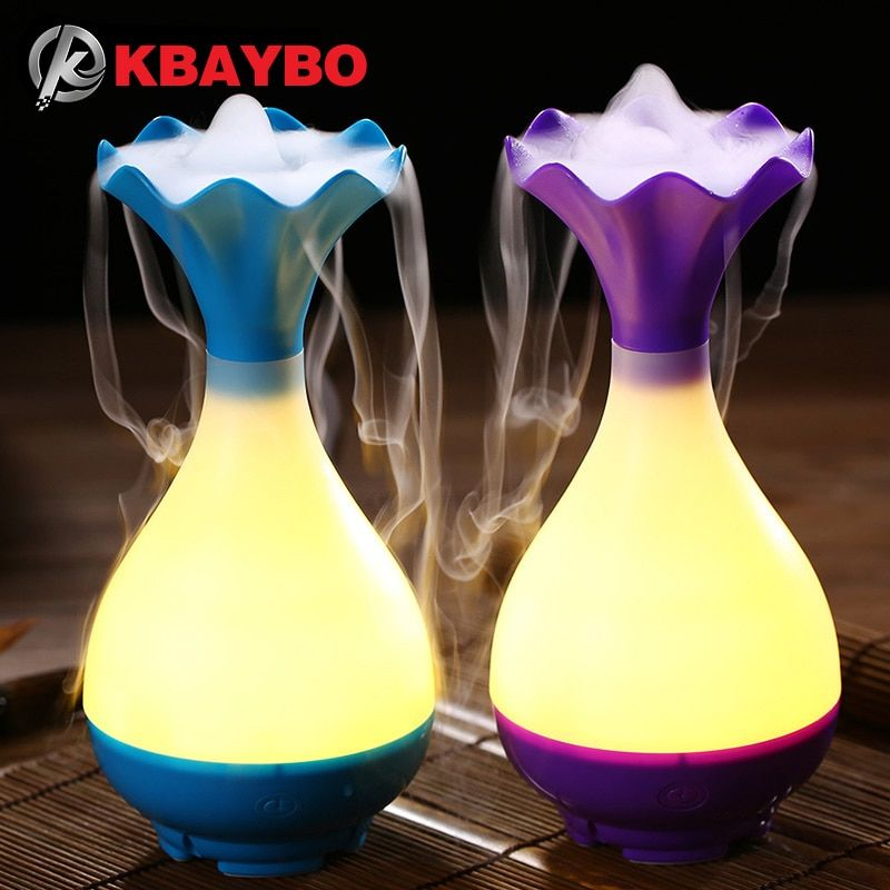 USB Air Humidifier Ultrasonic Aromatherapy Essential Oil Aroma Diffuser with LED <font><b>Night</b></font> Light Mist Purifier atomizer for Home