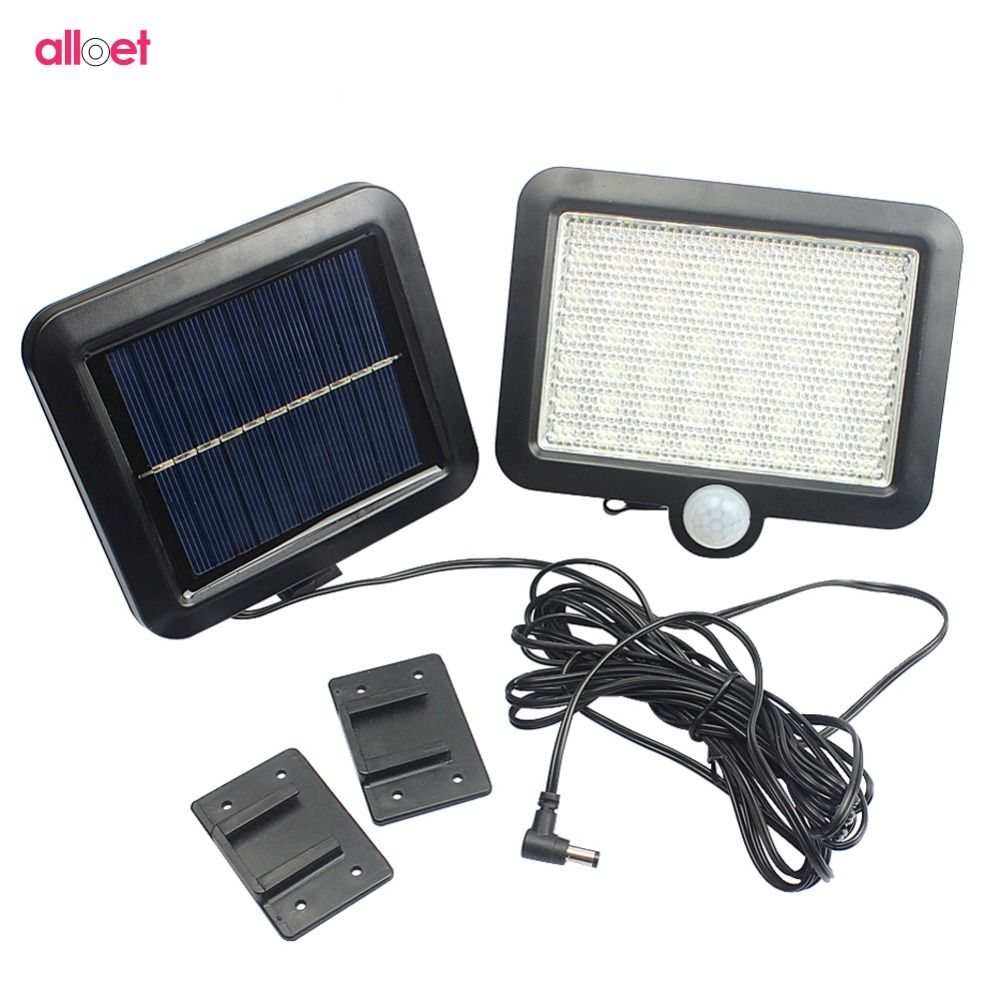 56 LED Solar Light PIR Motion Sensor Detection Wall <font><b>Lamp</b></font> Energy-saving Lights Waterproof Outdoor Garden Floodlights Spotlights