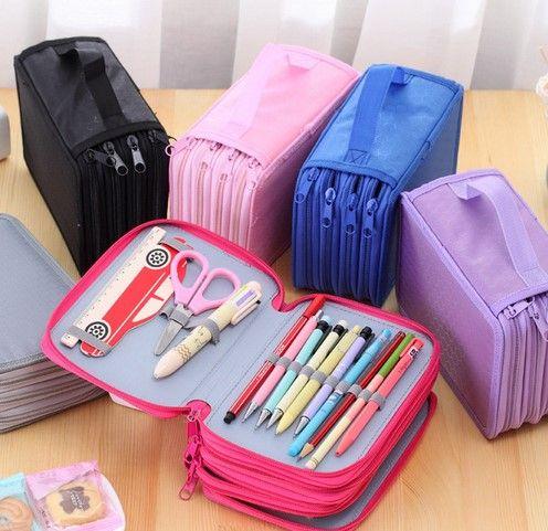 72 étuis 4 couches Portable Oxford toile école crayons étui pochette brosse poches sac porte-crayons fournitures scolaires