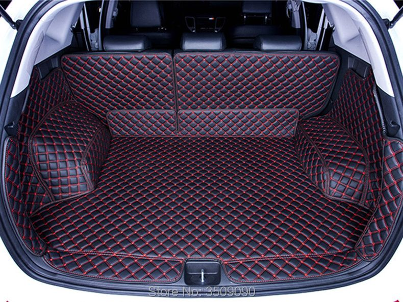 For Hyundai Tucson 2015 2016 2017 3TH Rear Tail Car Trunk Mat Durable Boot Carpets Full Coverage Car Styling