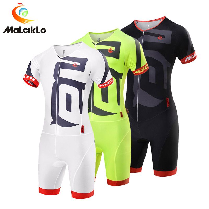 Malciklo Pro Team Triathlon Suit Men's Cycling Jersey Skinsuit Jumpsuit Maillot Cycling Sets Ropa Ciclismo Bike Clothing