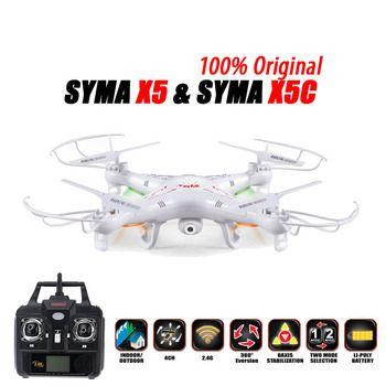 100% D'origine SYMA X5C (Mise À Niveau Version) RC Drone 6-Axe Télécommande Hélicoptère Quadcopter Avec 2MP HD Caméra ou X5 Pas de Caméra