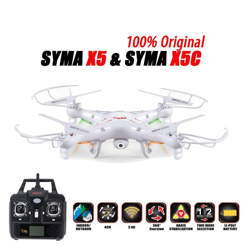 100% Original SYMA X5C (Upgrade Version) RC Drone 6-Axis Remote Control Helicopter Quadcopter With 2MP HD Camera or X5 No Camera