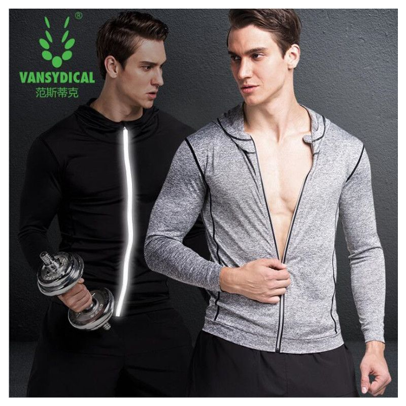 Anyfashion Running Jacket Men Breathable Quick-drying Running Jersey Wind Coat Protect Hooded Running Jacket For Men