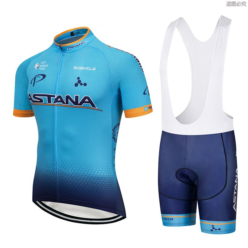 2018 TEAM ASTANA Cycling jersey gel bike shorts SOBYCLE Ropa Ciclismo mens summer quick-dry PRO BICYCLING wear Maillot Culotte