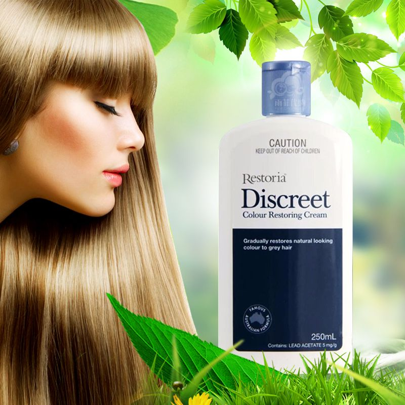 100% Australia made Restoria Discreet Colour Restoring Cream/ Lotion, Hair Care 250ml Reduce Grey Hair - Suitable for Men &Women