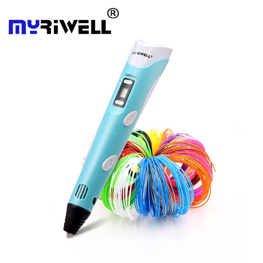 Myriwell 2nd 3d stylo cadeau De Noël 3D Dessin Stylo Avec 3 Couleur total 9 M Filaments Pour Enfants Impression Dessin meilleur enfants stylos