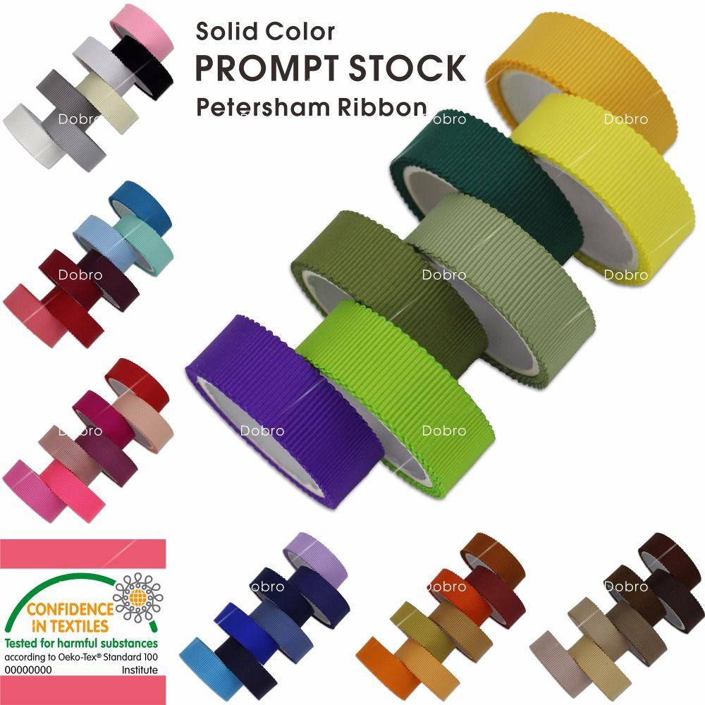 3 6 9 13 16 19 22 25 32 38 50 MM couleurs solides Petersham rubans pour bricolage artisanat couture fête mariage 49 couleurs disponibles non mélangées