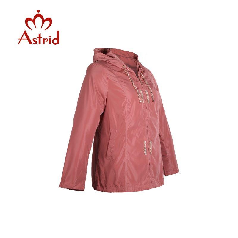 Astrid women's windbreaker large Jackets spring Hooded Outwear Short Slim Windbreaker Jacket Coat ladies Outwear hot sale AS9022