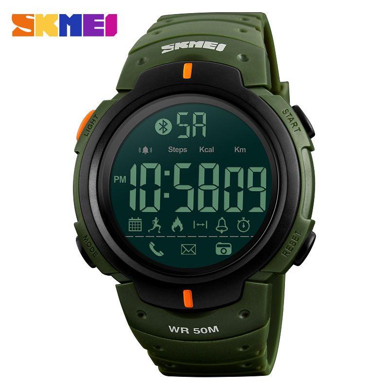 SKMEI 1301 Men Smart Watch Chrono Calories <font><b>Pedometer</b></font> Multi-Functions Sports Watches Reminder Digital Wristwatches Relogios Clock