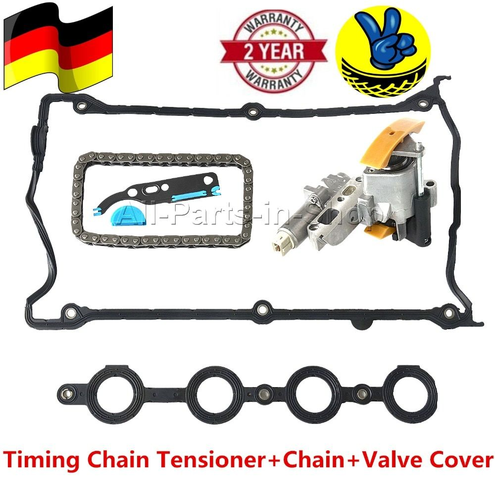 1 x Package Timing Chain Tensioner+Chain+Valve Cover for Audi Seat Skoda VW 1.8L 058109088B, 058109088E, 058109088L, 058109088K