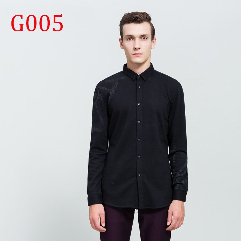 Spring Autumn Features Shirts Men Casual Jeans Shirt New Arrival Long Sleeve Casual G005
