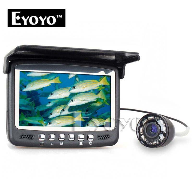 Eyoyo Original 15M Underwater Ice Video 1000TVL Fishing Camera Fish Finder 4.3